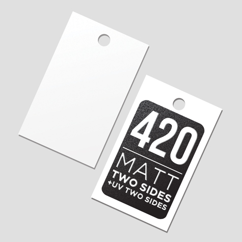 420 Matt Two Sides + Spot UV 2 Sides
