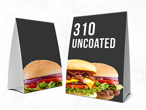 Gsm Uncoated Table Talker - Restaurant table talkers